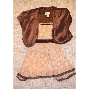 Limited Too Matching Sets - Limited Too Kids Brown Blazer and Top Set